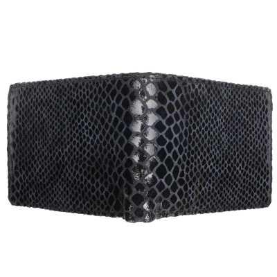 Blue Snake Print Embossed Designer Mens Leather Wallet