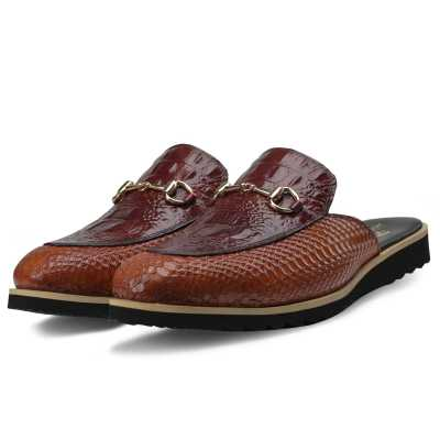 The Hale Slippers Mules Cognac