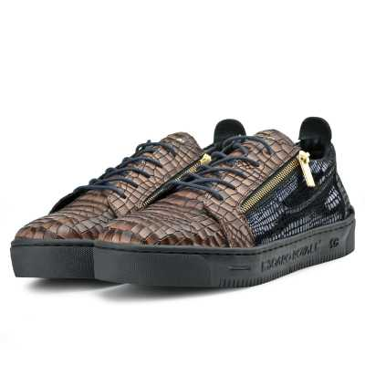 Hewitt Croc Textured Sneakers