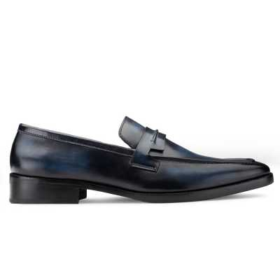 Iverson Blue Penny Loafers