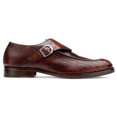 Newsberry Brown Croco Monks