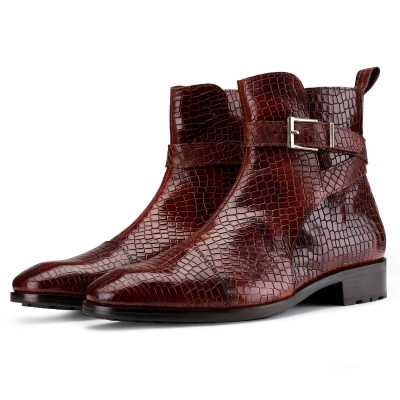 Jodhpur Boot in Patina Scales Wine