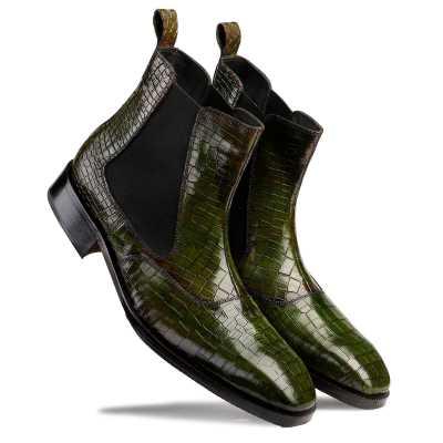 Regal Patina Chelsea Boots - Green