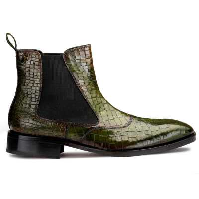Regal Patina Chelsea Boots - Green