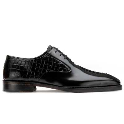 Tony Black Midsplit Oxford Shoes
