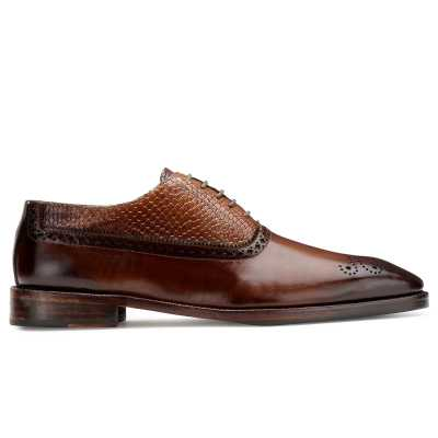 Mooney Patina Brown Oxford Shoes