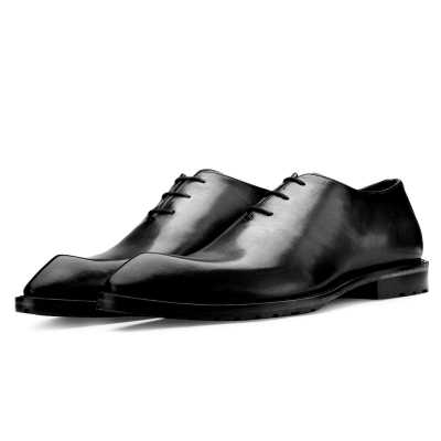 Connery Snip Toe Black Oxfords