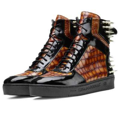Monarcho Hightop Stud Sneakers - Escaro Royale