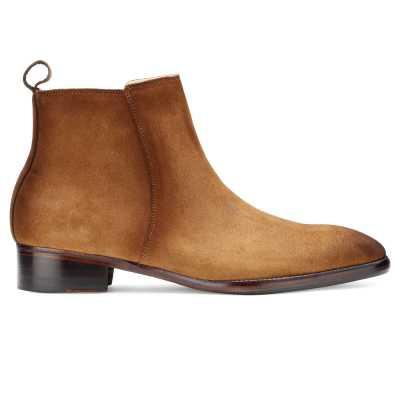 Carbine Suede Zipper Boots