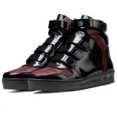 Triumph Black Hightop Sneakers
