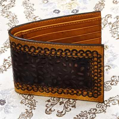 The Segal Hand-Tooled Leather Bi-Fold Wallet