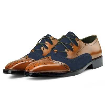 Bart Criss Cross Oxford Tan Blue