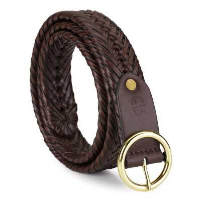 Maleko Leather Braided Belt