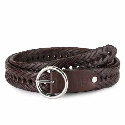 Topias Leather Braided Belt
