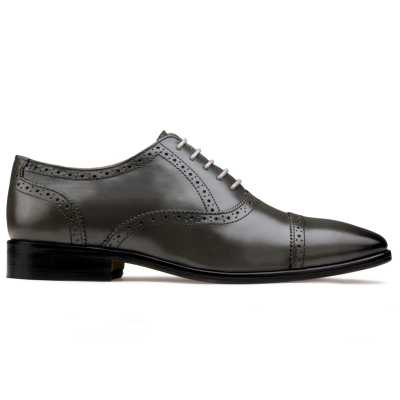 The Boston Toecap Oxfords in Gray