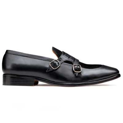 The Austin Double Monk Loafer In Black