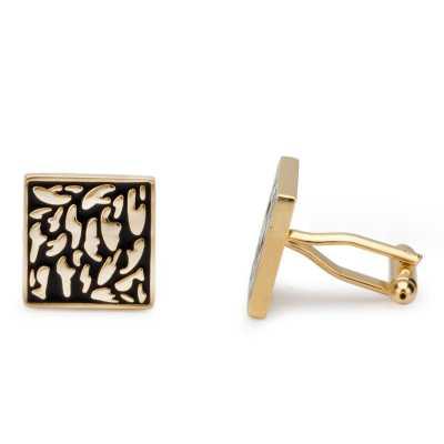 Men's Gold Plated Engraving Cufflinks