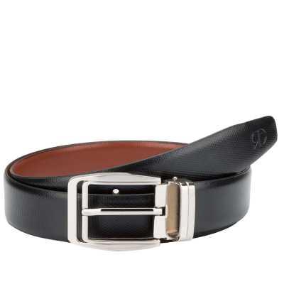 Black and Brown Pentafloor Design Leather Mens Formal Belts