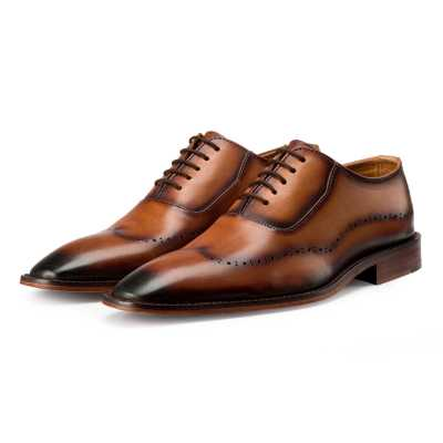Tan Burnish Oxford