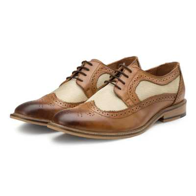 Tan Derby Wingtip Brogues