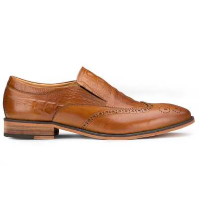 Tan Croc SlipOn