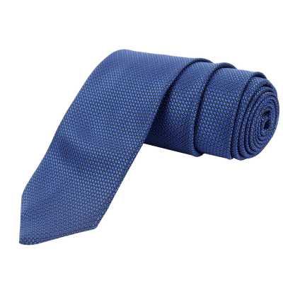 Azzuri Solid Blue Tie