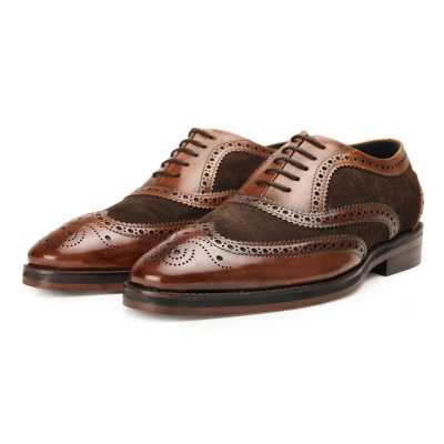 The London Wingtip Brogues in Hybrid Brown