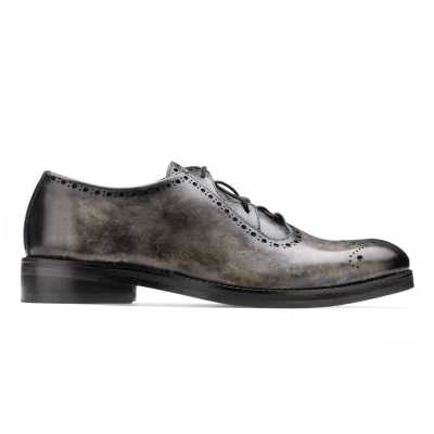 The Isaac CrissCross Lace-Up in Gray Marble