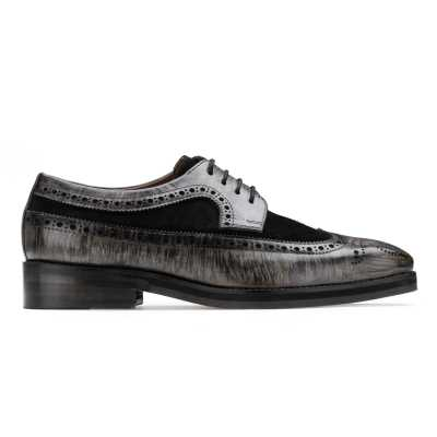 The Predator Brogue in Granite Gray-Black