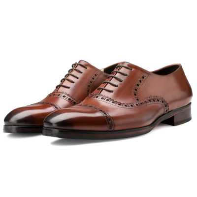 The Vienna Toecap Oxfords in Cognac