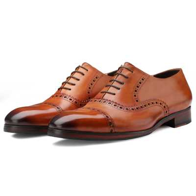 The Vienna Toecap Oxfords in Tan