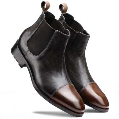 The Christopher Chelsea in Grey Brown