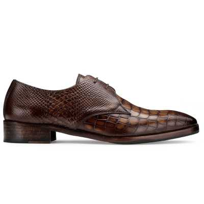 The Lewis Derby in Tan Croc