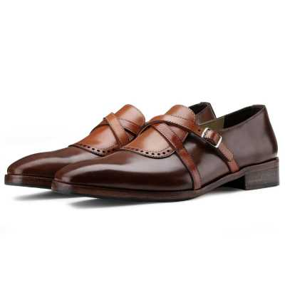 The Drake Cross Monk in Brown Tan