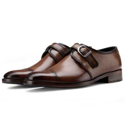 The Henry Toecap Monkstrap in Cognac