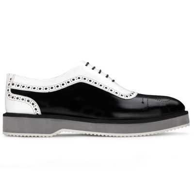The Cortes Designer Oxford in Black White