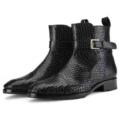 Jodhpur Boot In Patina Scales Black