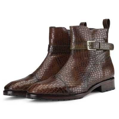 Jodhpur Boot In Patina Scales Olive