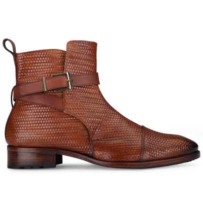 Jodhpur Boot In Patina Scales Cognac