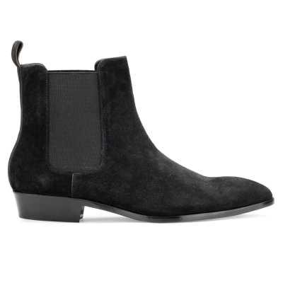 Iceman Chelsea Boots in Black Suede - Escaro Royale