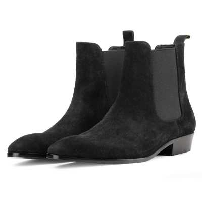 Iceman Chelsea Boots in Black Suede