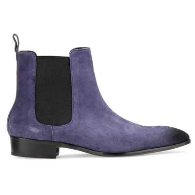 Iceman Chelsea Boots in Blue Suede