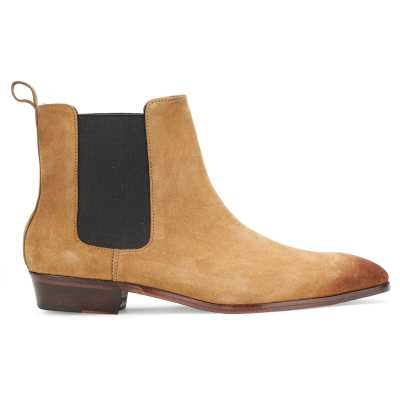 Iceman Chelsea Boots in Camel Color Suede