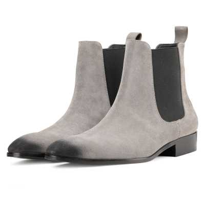 Iceman Chelsea Boots in Grey Suede