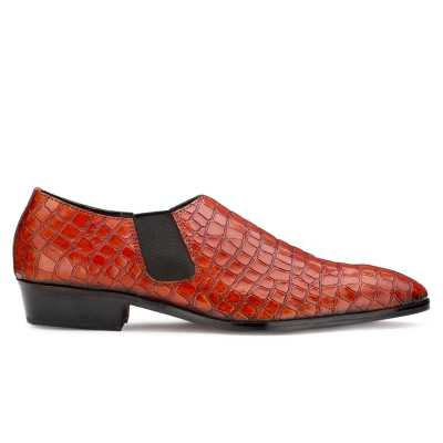 Vader Loafers for Men in Patina Croc Cognac