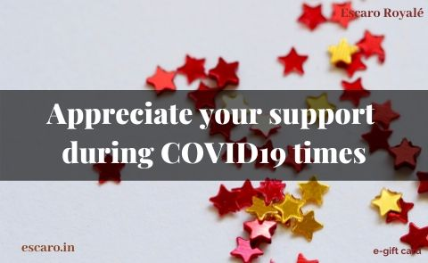 Appreciate your support  during COVID19 times