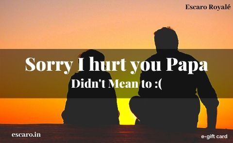Sorry I Hurt You Papa