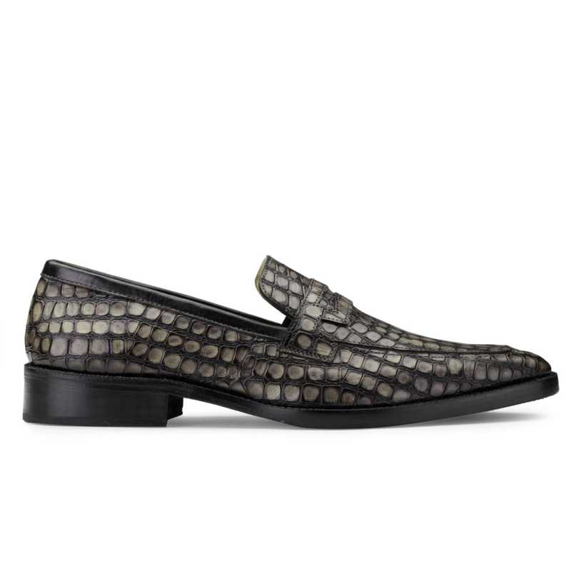 Iverson Grey Penny Loafers