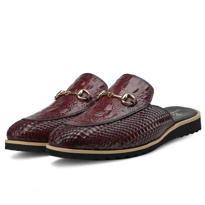 The Hale Slippers Mules Wine - Escaro Royale