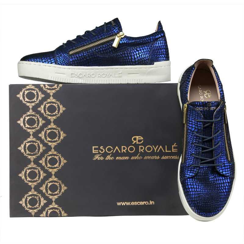 Hercules Blue Sneakers - Escaro Royale